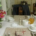 Our lovely breakfast table!