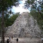 Coba pyramid:  wow!  impressive!  what a view from up there too!