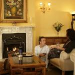 Guest lounge - wine by the fire...