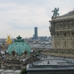 ギャラリーラファイエット百貨店屋上から見たオペラ座