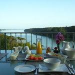 Enjoy breakfast on the deck