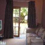 Veranda in our room with the door to the garden