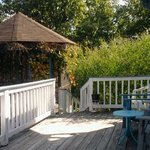 """my """"breakfast nook"""" at River House WV"""