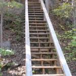 Stairway leading from River House WV down to the river