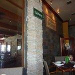 Door location to the rear of restaurant