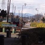 原当麻駅合流地点あたりから、丹沢を望む