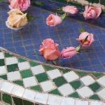 Rose petals in the fountain