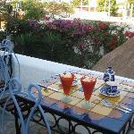 great breakfast on the terrace
