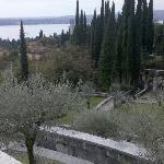 Vista dal mausoleo del parco e della casa