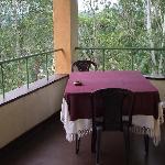 Breakfast possible on balcony