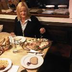 reichhaltiges Abendessen