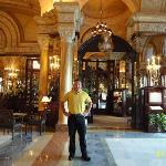 IN FRONT MAIN ENTRANCE OF LOUIS XV RESTAURANT
