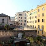The view from our room over Rome's rooftops