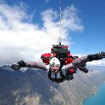 Thrilling skydive at Queenstown