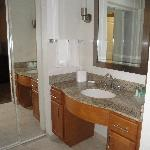 Bathroom vanity area