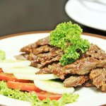 Roasted beef with Thai spicy dipping