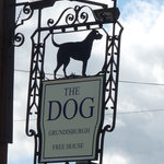 The Dog Pub SIgn at Grundisburgh
