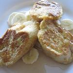 Breakfast - French Toast w banana cooked by Anita