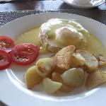 Breakfast - Egg Benedict cooked by Anita