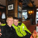 In the bar after a good days skiing