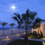 Full moon over the Red Sea