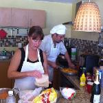Carlos & Tani cookin' up the goods!