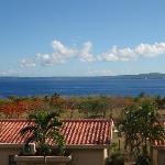 ベランダからの眺め テニアン島まで見えます