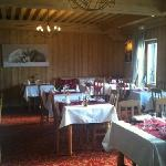 sunlight floods into main dining room at L'Ours Blanc