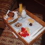 Morning breakfast served in your room