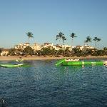 spiaggia privata Cadaques Caribe, vista dal pontile