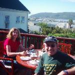 Breakfast on deck in Knysna