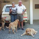Host and dogs complete the family