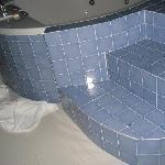 scalini lucidati oleosi in bagno