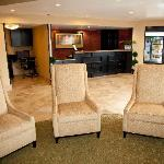 Our Lobby with Front Desk, 24-Hour Business Center & 24-Hour Panrty