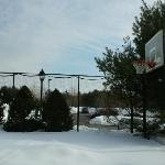 snow covered courts