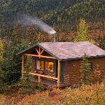 A cozy guest cabin at Camp Denali