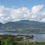 one small portion of our panoramic lakeview overlooking Mill Bay and the village of Naramata