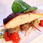 Fillet of Salmon on Crushed Spring New Potatoes
