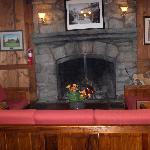 Fireplace in Dining Room