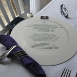 menu & napkin decoration