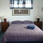Queen bedroom in each unit