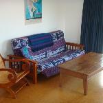 Double futon in each unit