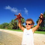 Boy with a starfish
