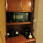 Microwave oven in room