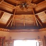 Beautiful mahogany ceilings in all rooms