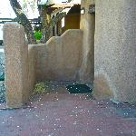 Patio and entrance to casita