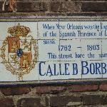 old Bourbon St sign