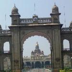 The face front of the Mysore Palace