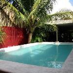 Chalupa celestiales piscina-