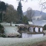 Stourhead gardens - a frosty morning